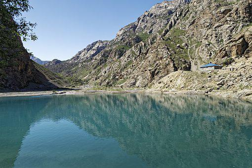Tajikistan, Seven Lakes, šingtal, Lake, Water, Valley
