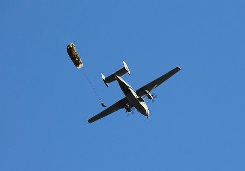 Aircraft, Parachute, Human, Technology