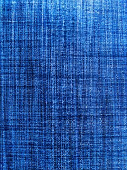 Blue Fabric, Textured Fabric, Textile, Woven Fabric