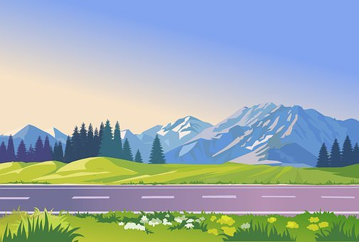 The Background, The Cartoon, Illustration, Graphics
