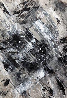 Black And White, Grey, Gray, Acrylic, Contemporary