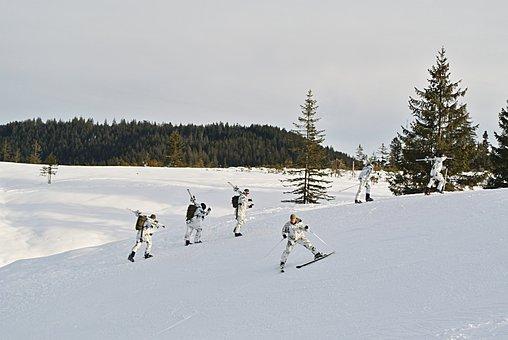 Bundeswehr, Gebirgsjäger, Soldiers, Uniform, Army, Ski