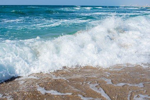 Sea, Sand, Sea Foam, Coast, Wave, Beach