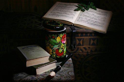 Chest, Sheet Music, Box, Flute, Still Life, Books