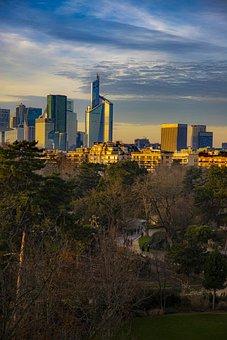 City, Urban, Paris, Building, Architecture, Park, Sky