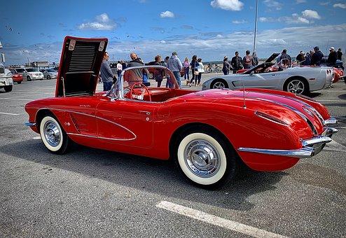 Corvette, C1, Chevrolet, Auto, Speed, Classic