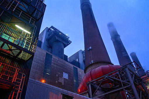 Industry, Chimney, Power Plant, Factory, Pollution