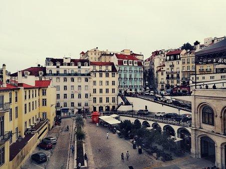 Portugal, City, Historic Center, Building, Tourism