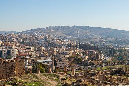 Jerash, Jordan, City, Building, Cityscape, Architecture