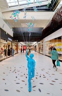 Model, Blue, Decor, Center, Commercial, The Lobby