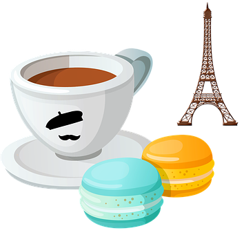 French Coffee, Macarons, Macaroons, Dessert, Sweets