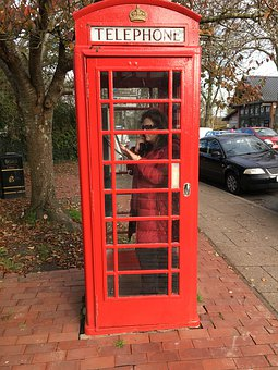 English Phone Booth, England, Telephone, Red, British