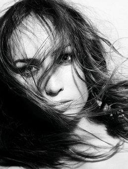 Young, Woman, Portrait, Face, Beauty, Long, Flowing
