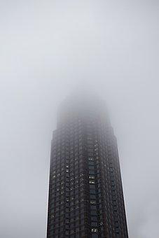 Fair, Frankfurt, Fog, Rain, Skyline, Skyscraper