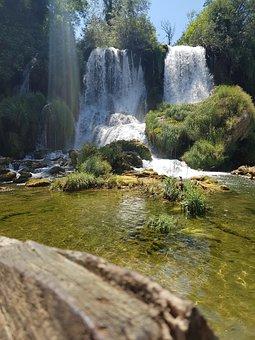 Waterfall, Forest, Nature, Water, Green, Bosnia