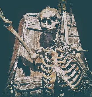 Skeleton, Ghost Train, Fairground, Folk Festival