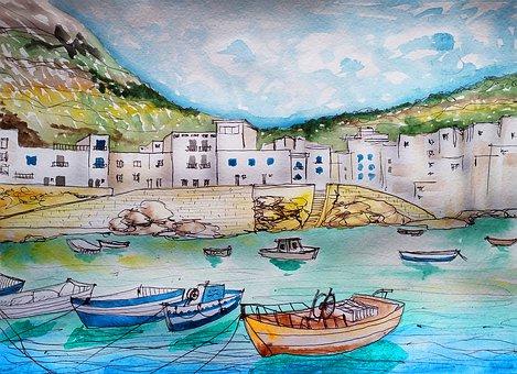 Sea, Ocean, Harbor, Pier, Resort, Boats, City
