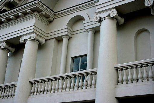 Facade, White, House, Architecture, Real Estate, Home