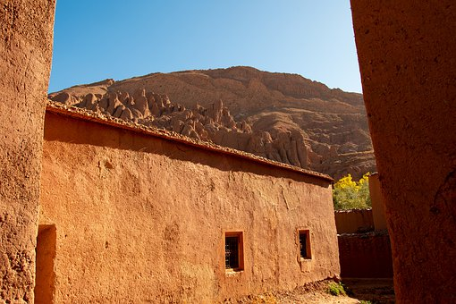 Morocco, Kasbah, Mountains, House