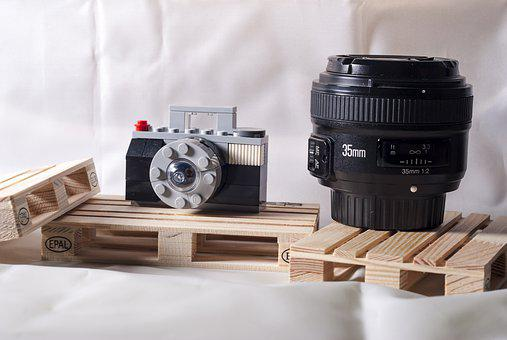 Lego, Objective, Camera, Photo, A 35mm Lens, Toy