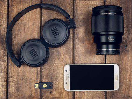 Headphones, Lens, Photograph Lens, Telephone, Mobile