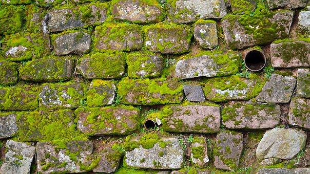 Wall, Sand Stone, Moss, Masonry, Stone Wall, Green, Old
