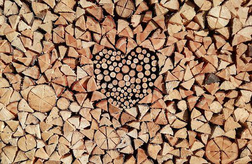 Wood, Background, Brown, Natural, Heart