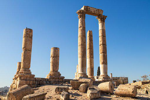 Roman, Pillars, Column, Ancient, Architecture, Jordan