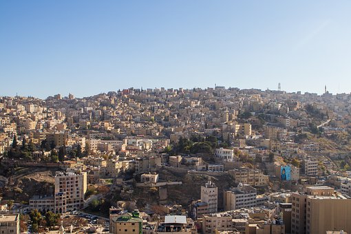 Amman, City, Road, Bulding, Historic, Jordan