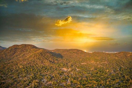 Sky, Scenic, Hua Hin, Tropical, Drone, Sunset