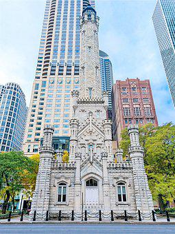 United States, Building, Chicago, City, Modern, Church