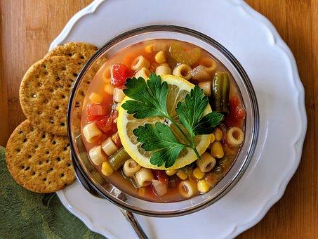 Soup, Vegetable Soup, Minestrone Soup, Dinner, Food