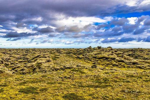 Iceland, Volcanic, Landscape, Figure, Volcanoes, Sky