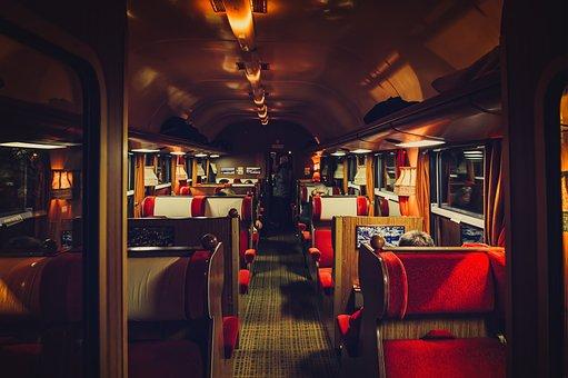 Train, Compartment, Wagon, First Class, Nostalgia