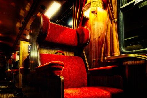 Travel, Train, Wagon, First Class