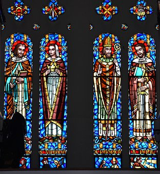 Church, Stained Glass, Window, Religion, Saints