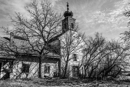 Black And White, Abandoned, Abandoned Church