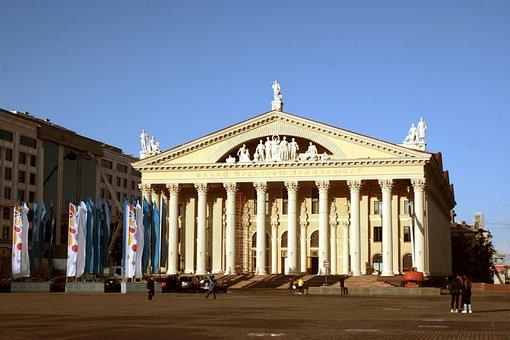 House, Pillar, Minsk, Architecture, Building, Facade