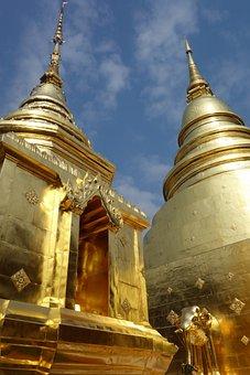 Temple, Wat, Gold, Thailand, Buddhism, Buddha, Asia