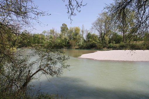 Lech, Water, River, Nature, Landscape, Blue, Bavaria