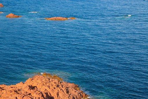 Cap Roux, Esterel, Mountains, Bay, Cap, Sea, Landscape