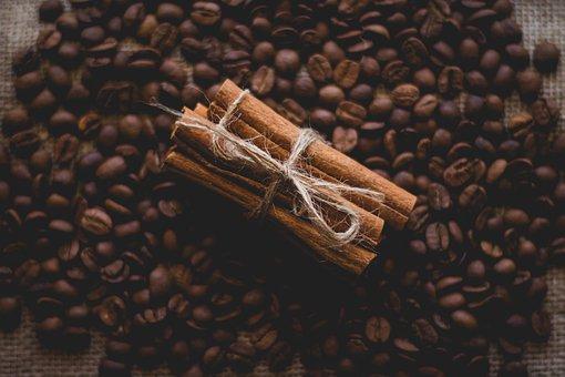 Still Life, Close Up, Cinnamon, Coffee Beans, Blurry