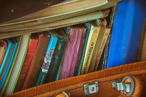 Luggage, Books, Nostalgia, Leather Suitcase, Leisure