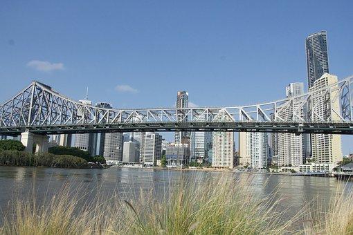 Bridge, Brisbane, Steel, Span, Brisbane-river