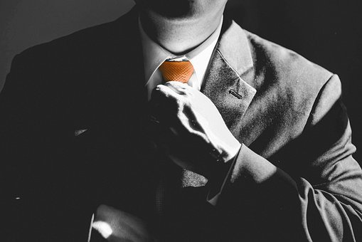 Business, Man, Tie, Orange, Businessman