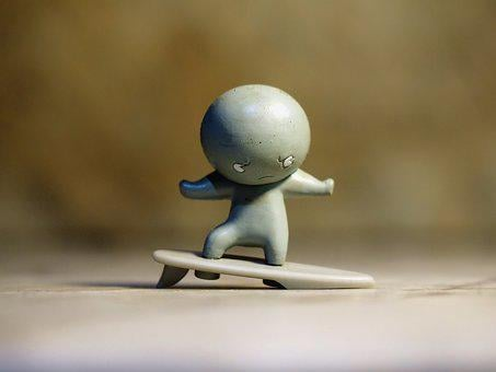 Silver Surfer, Child, Kid, Toy, Small, Cute, Rubber