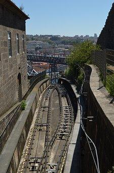 Portugal, Porto, City, Bridge, Landmark, Travel, Rails