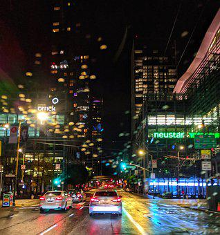 Rain, City Streets, San Francisco, Cars