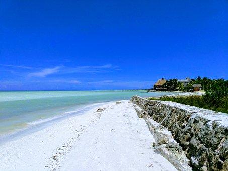 Beach, Sky, Blue, Ocean, Coast, Wave, Relax, Calm