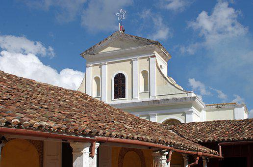 Cuba, Trinidad, Church, Roofing, Patio, House, Colonial